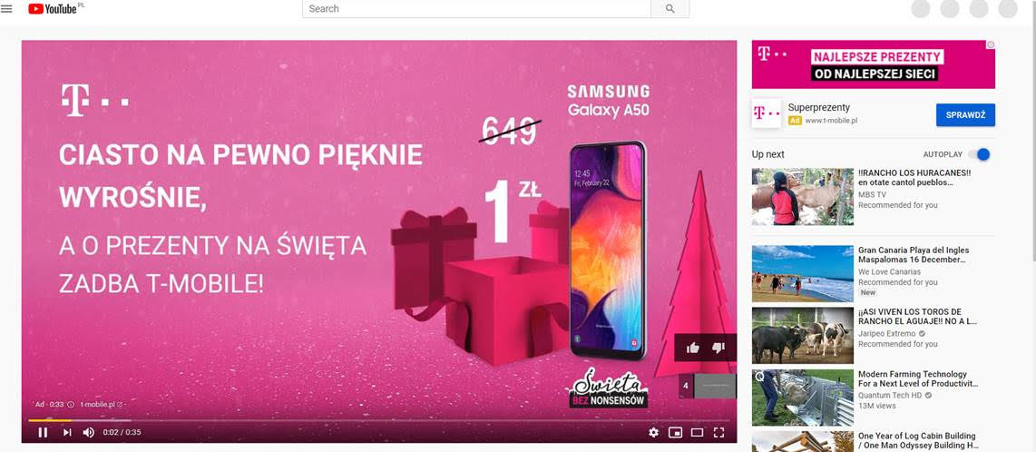 Świąteczna kampania T-Mobile z YouTube Director MIX
