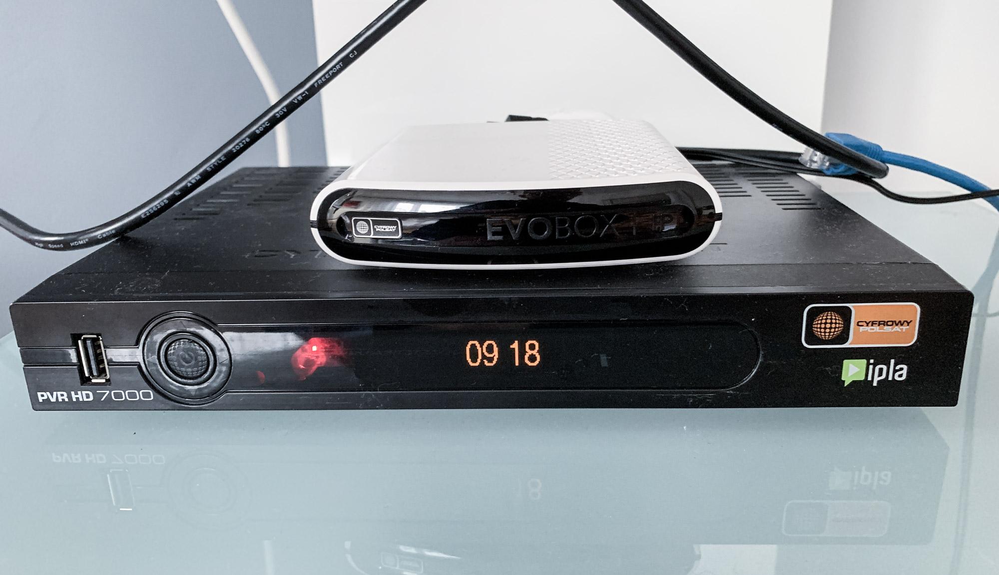 Test dekodera EVOBOX IP Cyfrowego Polsatu