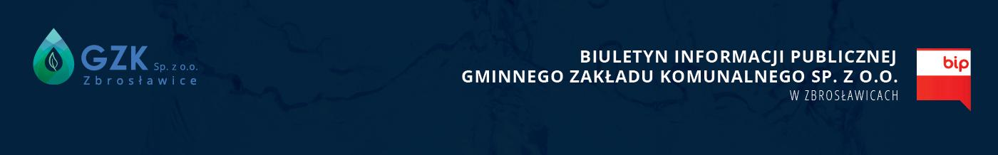 Baner BIP Gminny Zakład Komunalny Sp. z o.o.