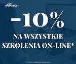 Grafika zawierająca napis -10% na wszystkie szkolenia zdalne