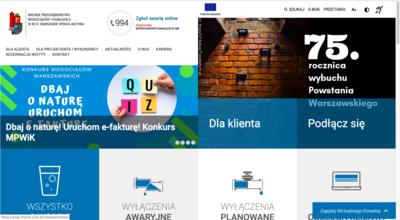Na grafice widać stronę główną klienta, dla którego Vavatech będzie likwidował problemy oraz usterki.