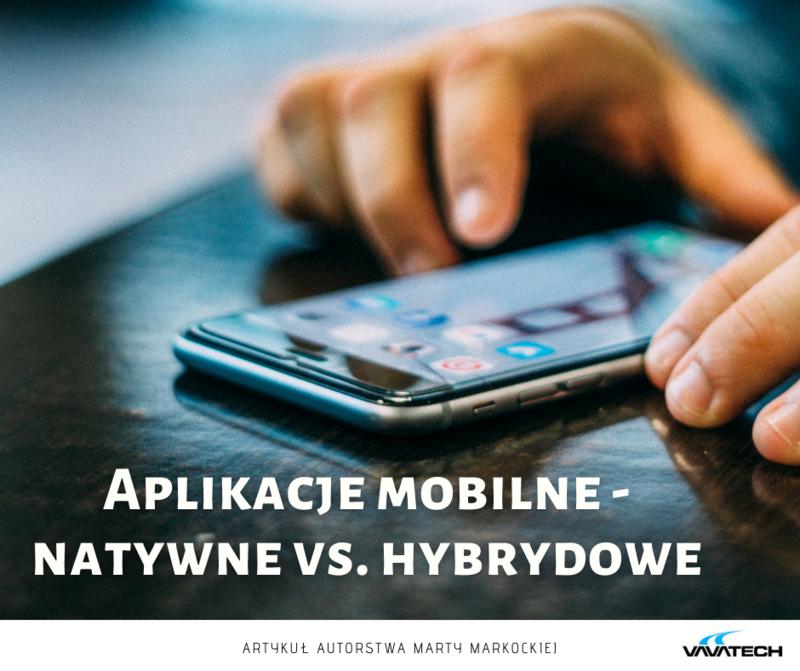 Grafika przedstawiająca zdjęcie smartfonu z aplikacją mobilną i napisem