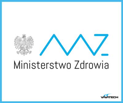 Grafika z logo Ministerstwa Zdrowia