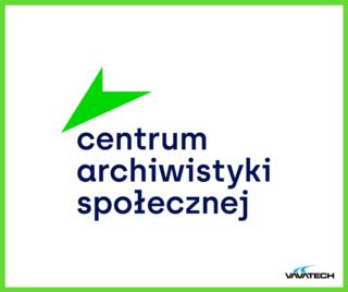 Grafika z logo Centrum Archiwistyki Społecznej