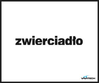 Grafika z logo Zwierciadło