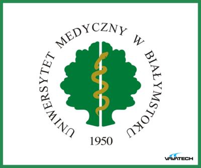 Grafika przedstawiająca logo Uniwersytetu Medycznego w Białymstoku