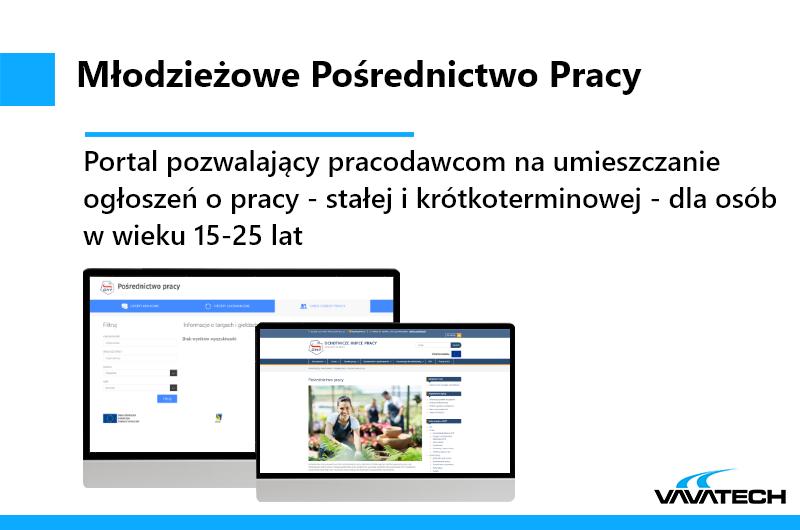 Mlodziezowe Posrednictwo pracy to portal pozwalajacy na umieszczanie ogłoszeń dla mlodych, stworzony w opraciu o technologie PHP, Symfony i PostgreSQL