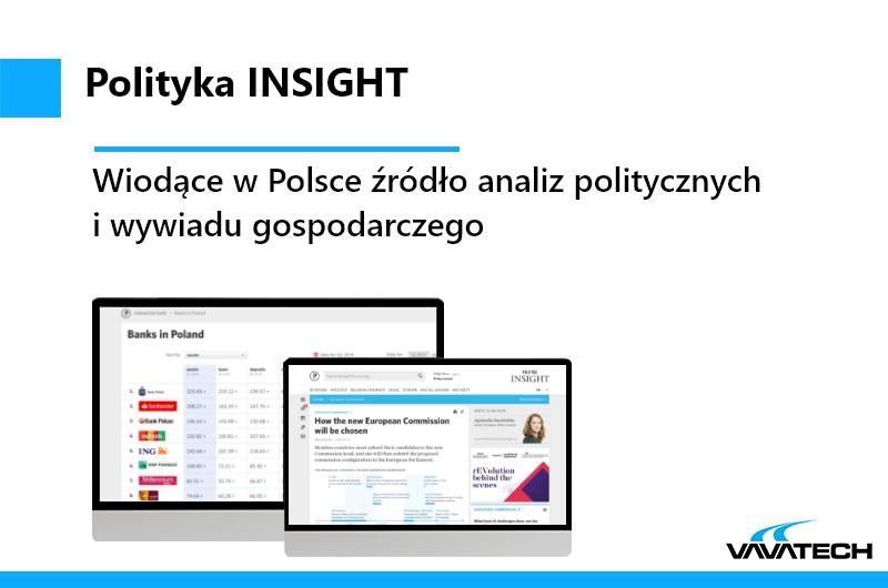 Polityka Insights, webaplikcja zaprojektowana przez Vavatech