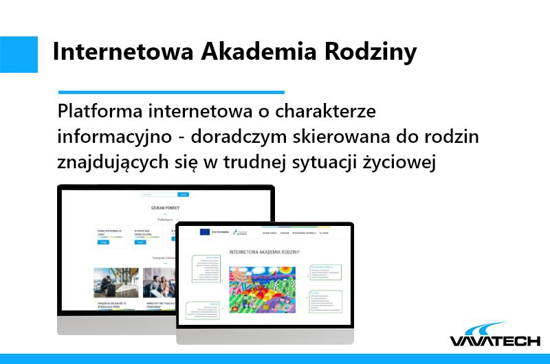 Jest to platforma internetowa stworzona przez Vavatech przy użyciu jezyka PHP, Wordpressa oraz Nginx