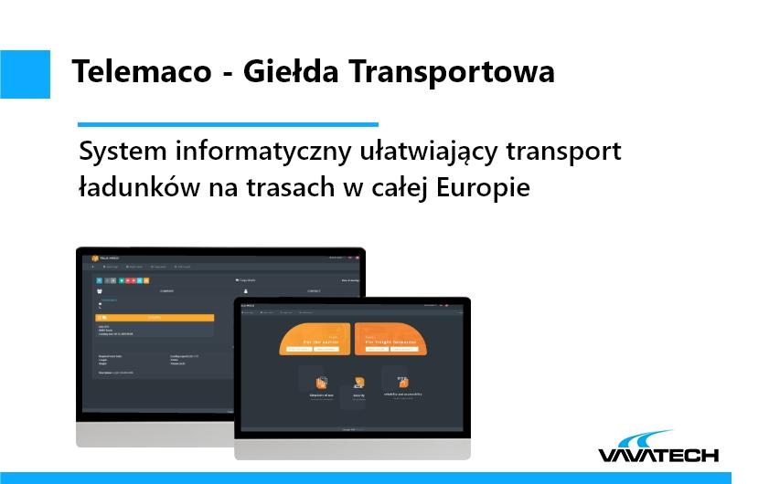 Telemaco to system informatyczny oparty o technologie Java, JavaEE, WildFly, MySQL, stworzony przez Vavatech