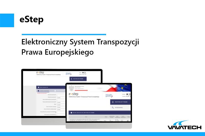 eStep to aplikacja stworzona przez Vavatech w technologii Java, JBoss i MySQL