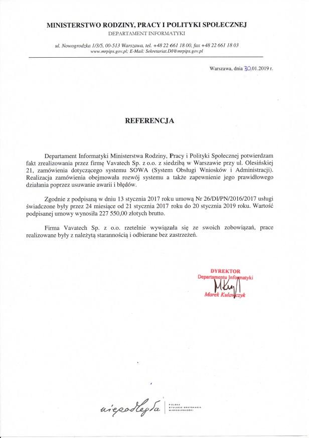 MINISTERSTWO RODZINY, PRACY I POLITYKI SPOŁECZNEJ System Obsługi Wniosków i Administracji
