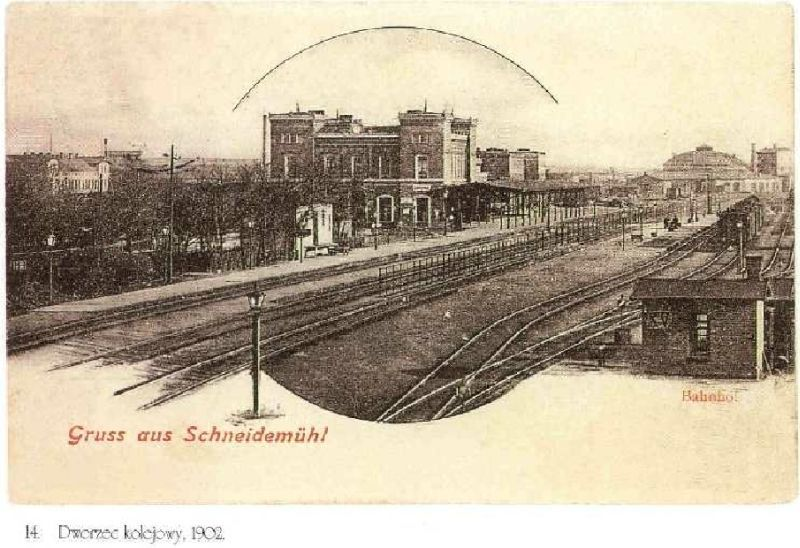 Strona połódniowa dworca.