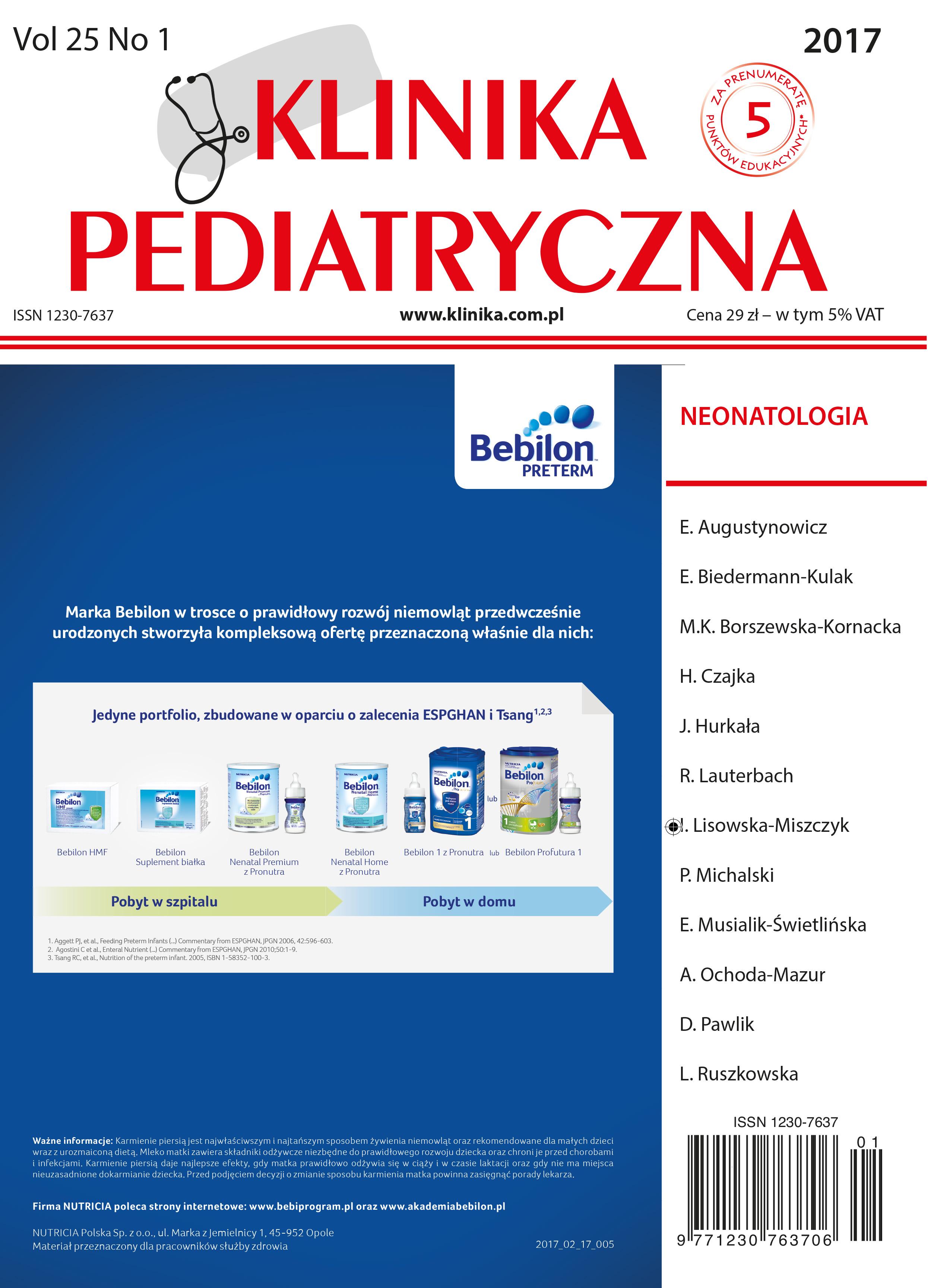 KP 1/2017 Neonatologia