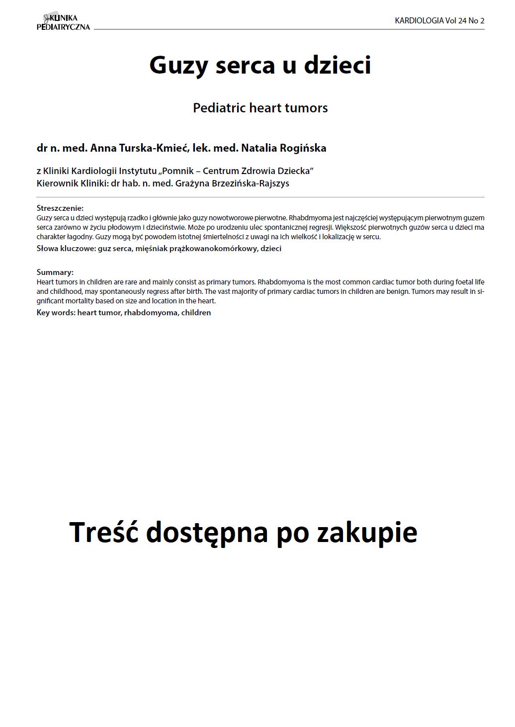 KP 2 -2016- Guzy serca u dzieci