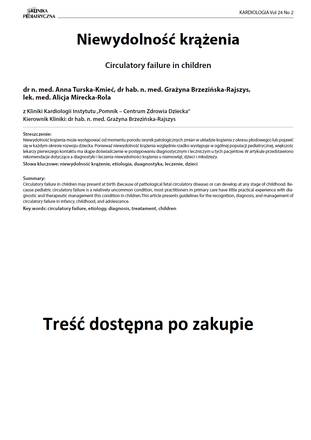 KP 2 -2016- Niewydolność krążenia
