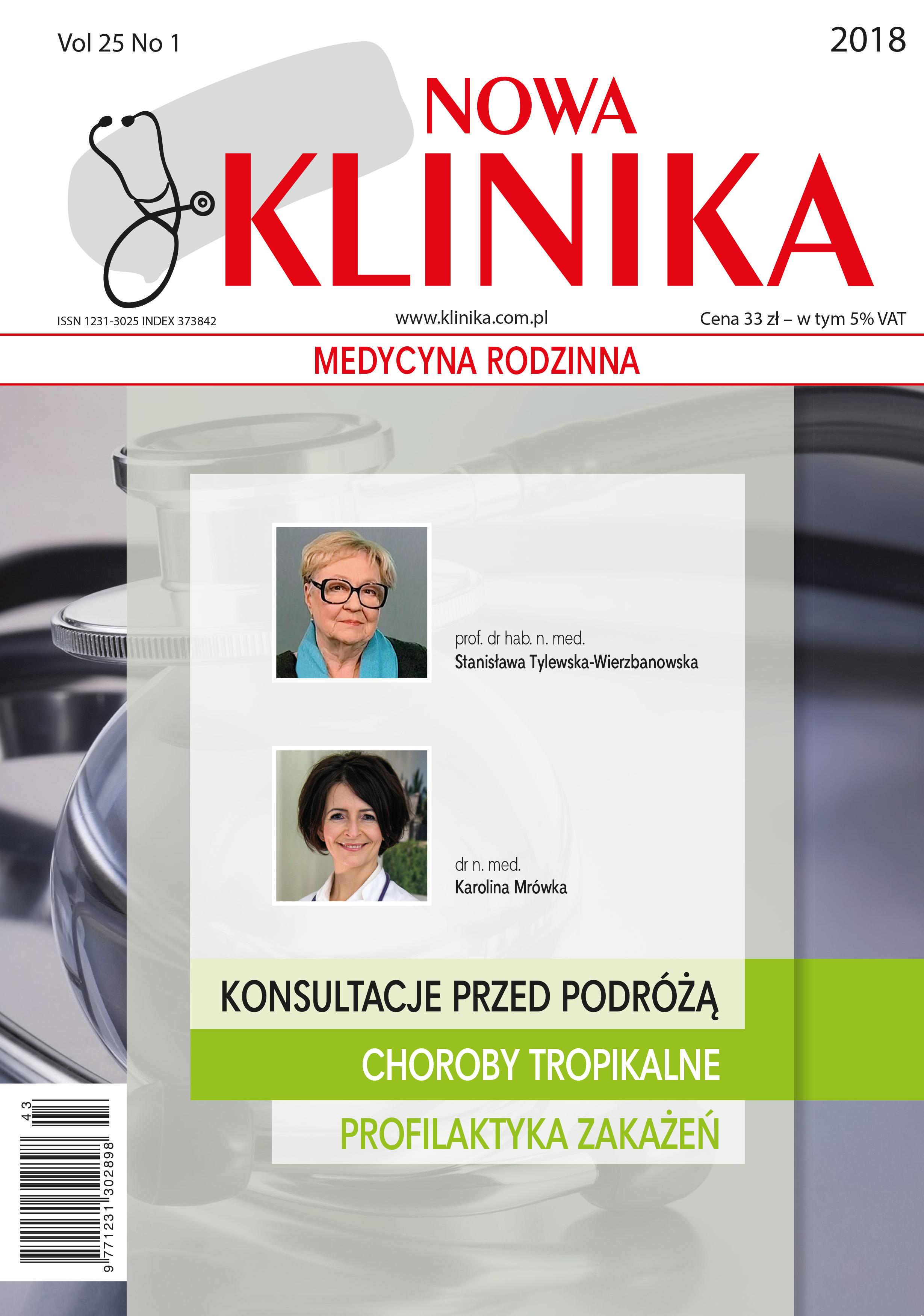KN 1/2018 - Choroby Tropikalne, Profilaktyka zakażeń