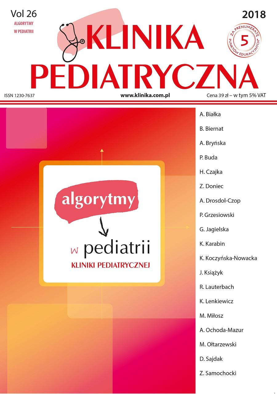 KP ALGORYTMY W PEDIATRII 2018
