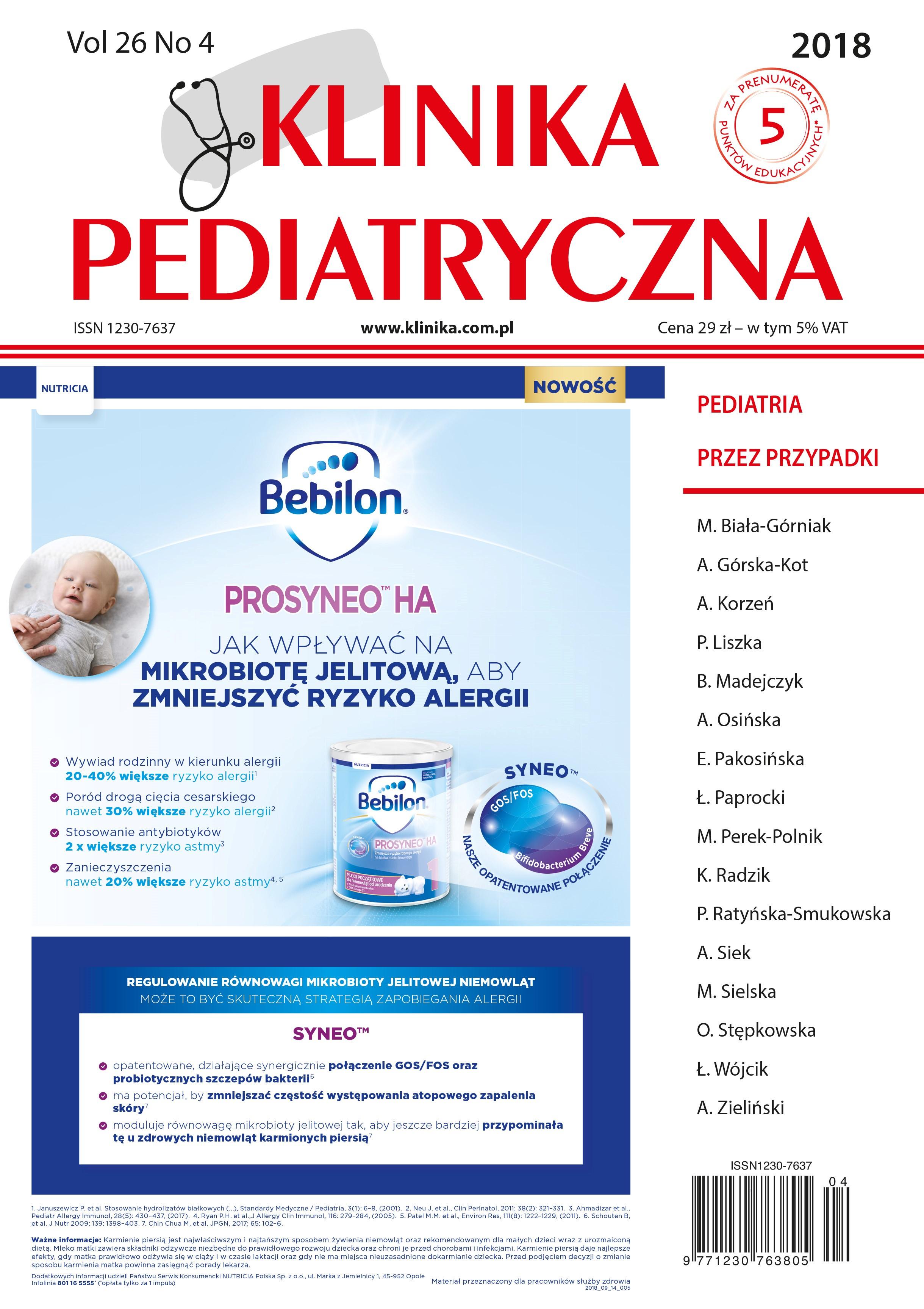 KP 4/2018 Pediatria przez Przypadki