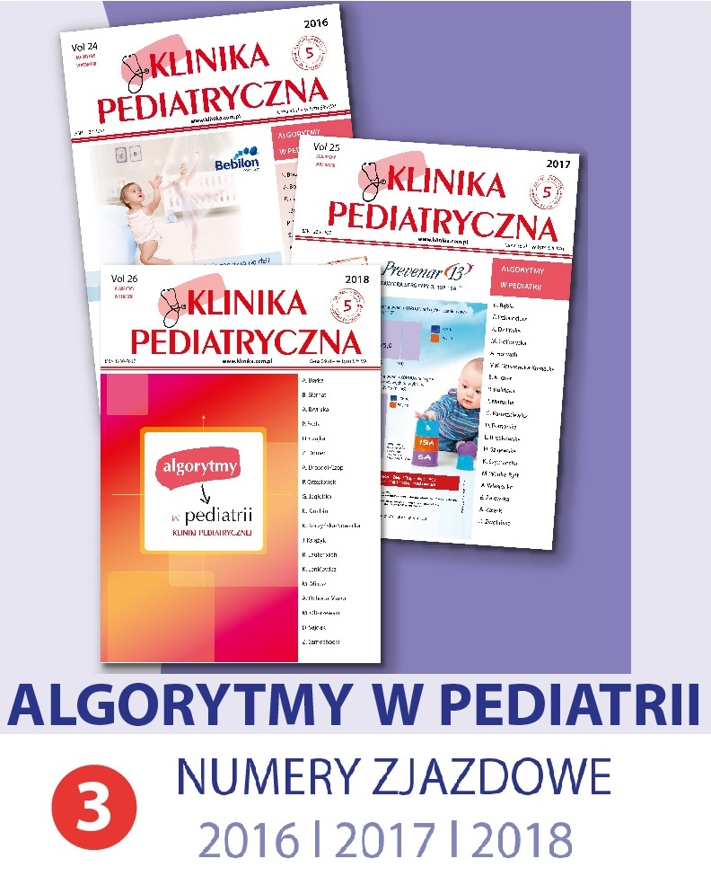 Potrójna dawka wiedzy - KP ALGORYTMY W PEDIATRII 2016/2017/2018