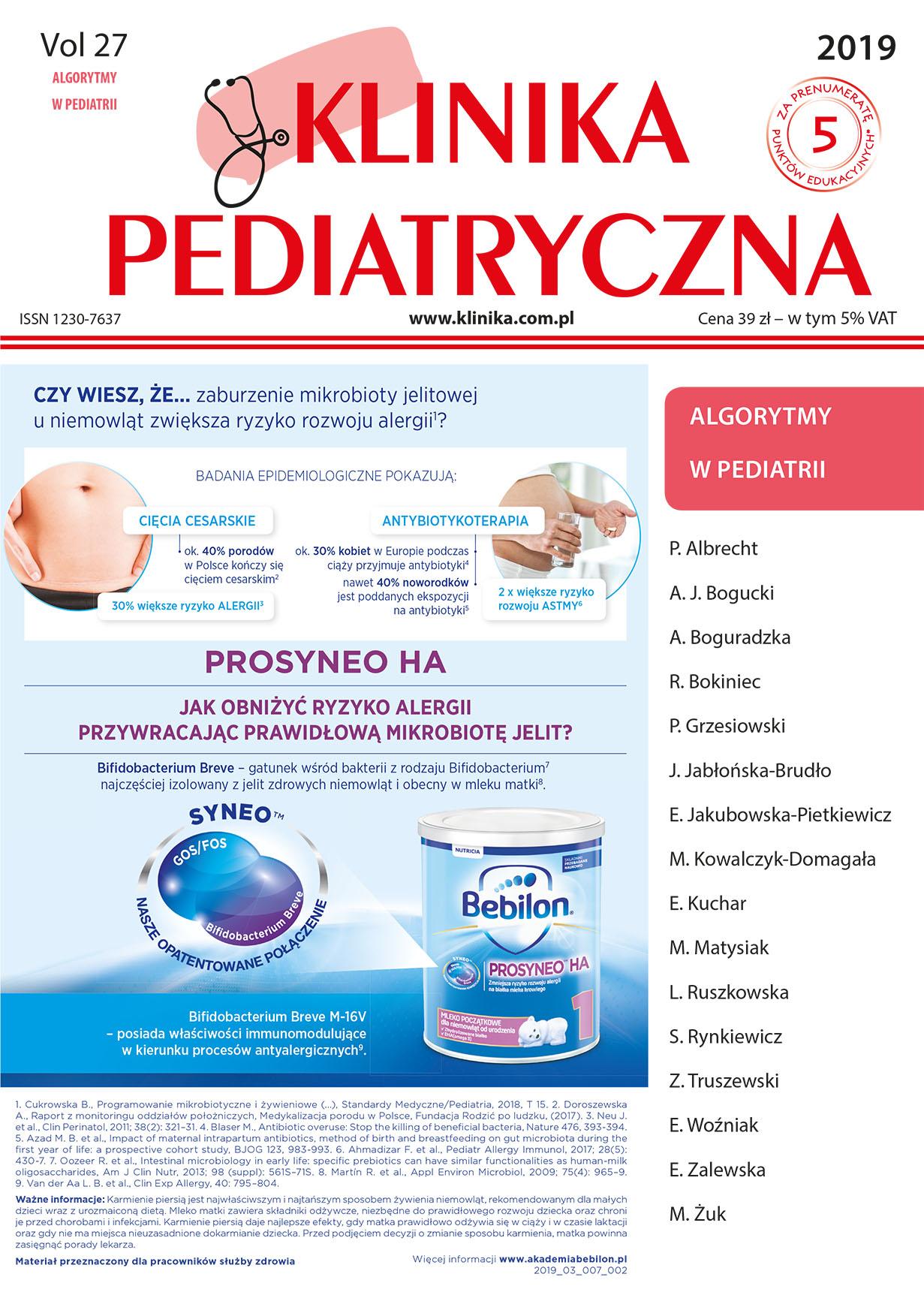 KP Algorytmy w Pediatrii 2019