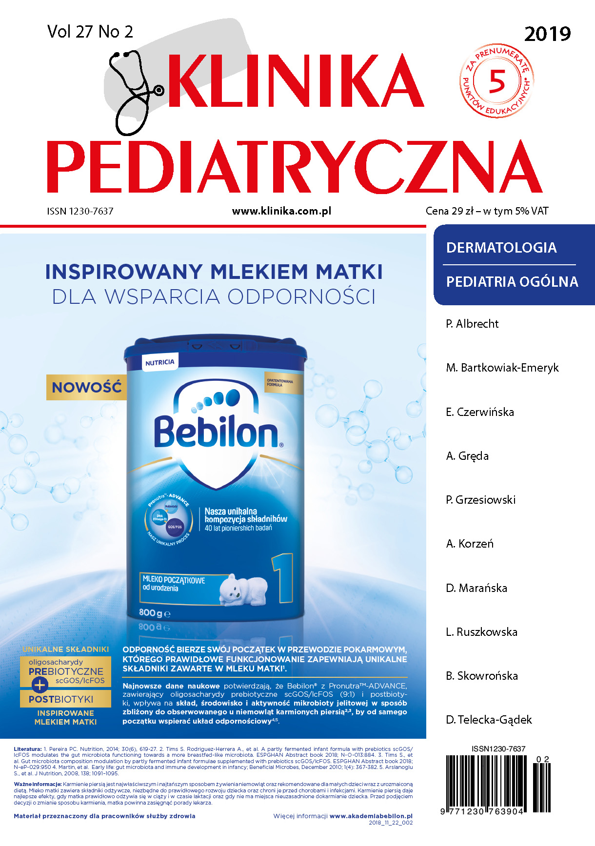 KP 2/2019 Dermatologia/Pediatria Ogólna