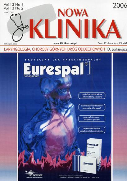 KN 2006/01-02 - Laryngologia, Choroby górnych dróg oddechowych