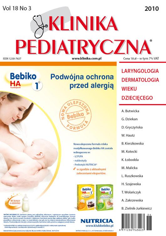 KP 2010/03 - Laryngologia / Dermatologia wieku dziecięcego