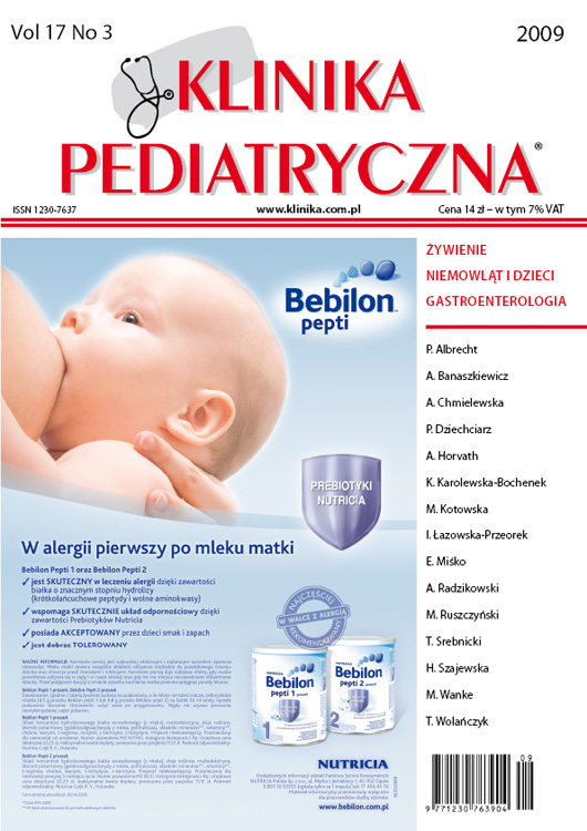 KP 2009/03 - Żywienie / Gastroenterologia