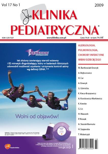 KP 2009/01 - Alergologia / Pulmonologia / Choroby infekcyjne
