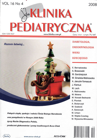 KP 2008/04 - Diabetologia, Endokrynologia wieku dzieciecego