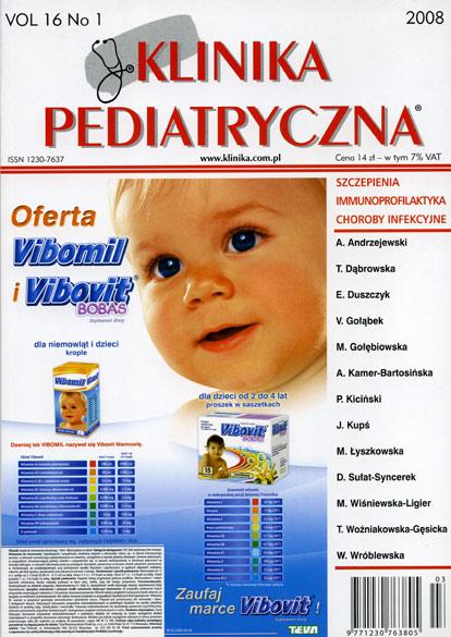 KP 2008/01 - Szczepienia / Immunoprofilaktyka / Choroby infekcyjne
