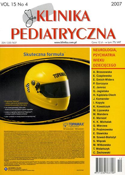 KP 2007/04 - Neurologia / Psychiatria wieku dziecięcego