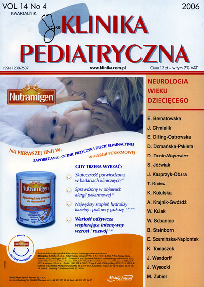 KP 2006/4 - Neurologia wieku dziecięcego