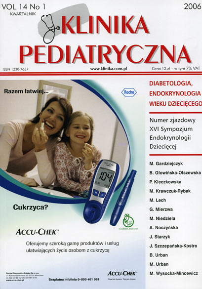 KP 2006/1 - Diabetologia i Endokrynologia wieku dziecięcego