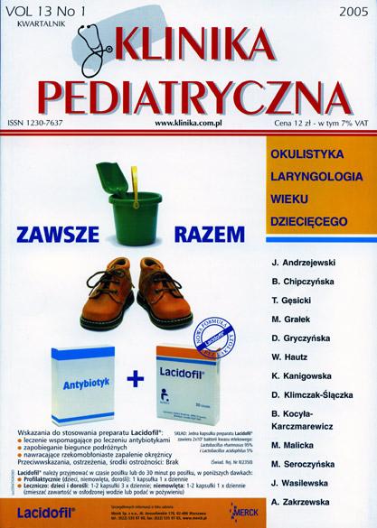 KP 2005/1 - Okulistyka i Laryngologia wieku dziecięcego
