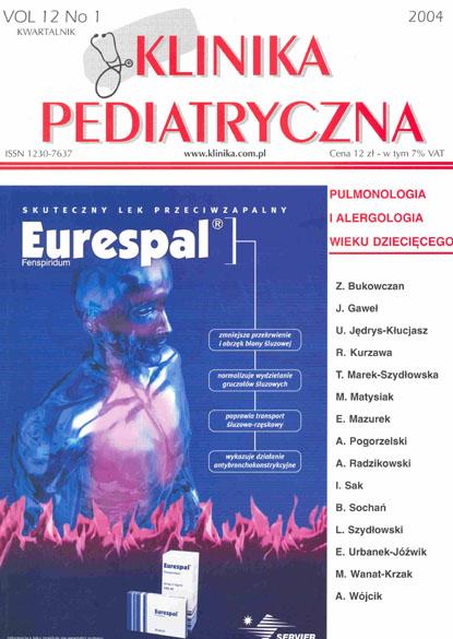 KP 2004/1 - Pulmonologia i Alergologia wieku dziecięcego
