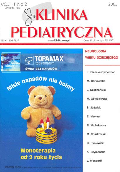 KP 2003/2 - Neurologia wieku dziecięcego