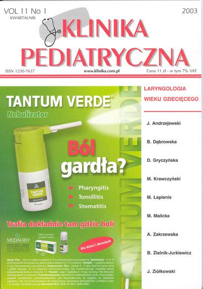 KP 2003/1 - Laryngologia wieku dziecięcego