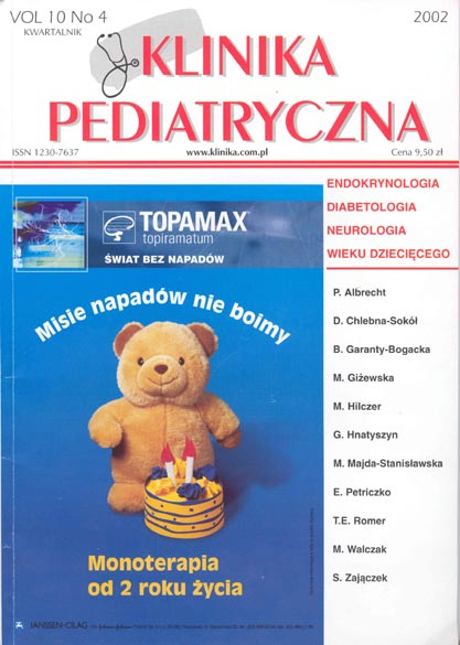 KP 2002/4 - Endokrynologia, Diabetologia, Neurologia wieku dz.
