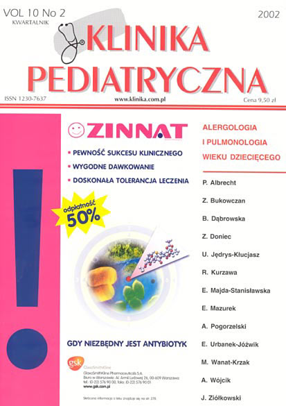 KP 2002/2 - Alergologia i Pulmonologia wieku dziecięcego
