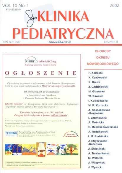 KP 2002/1 - Choroby okresu noworodkowego
