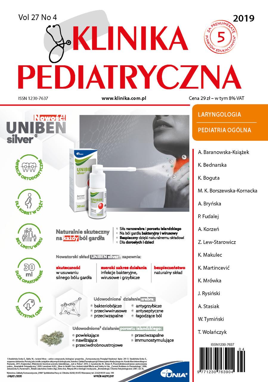 KP4/2019 Laryngologia, Pediatria ogólna