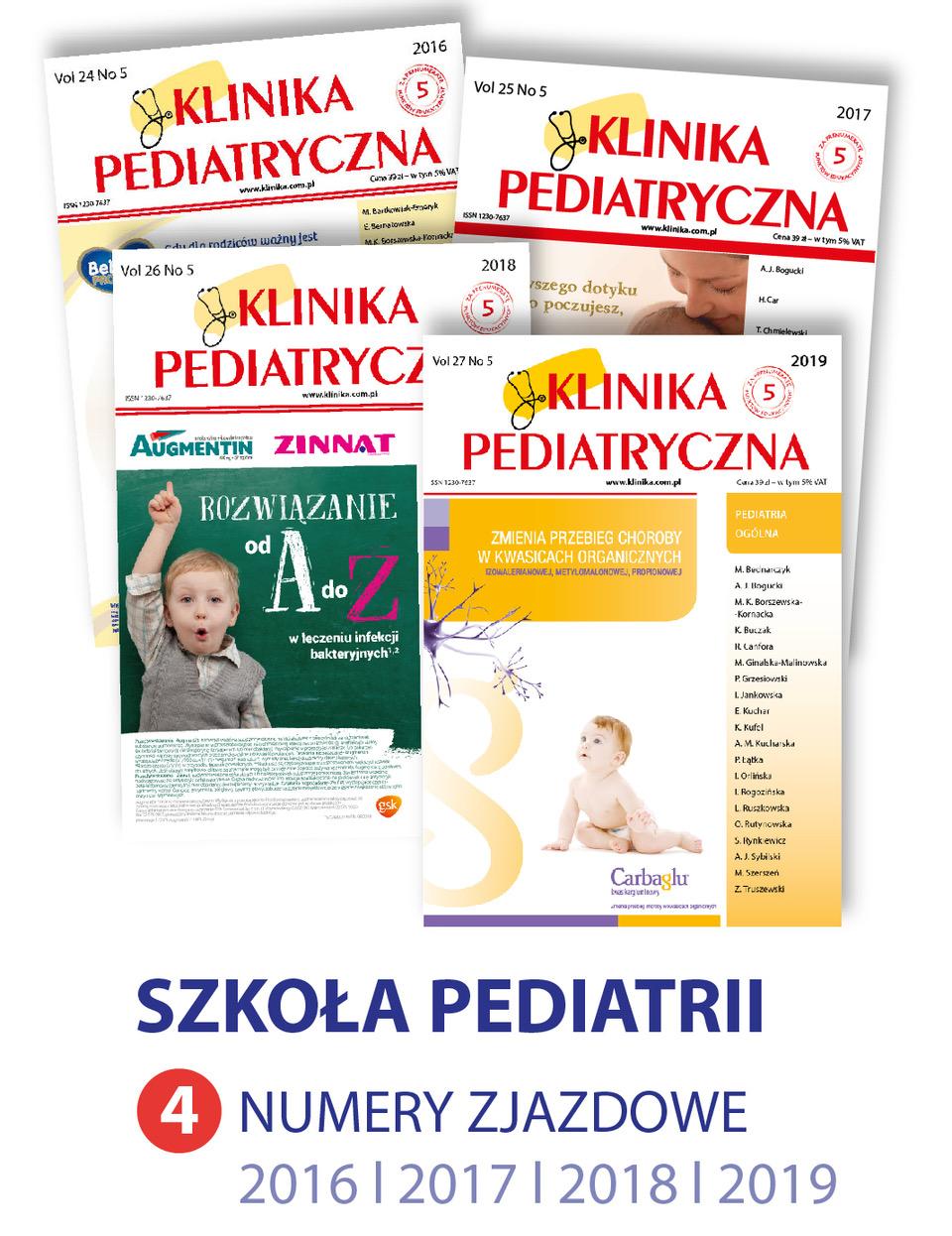 Pakiet 4 numerów zjazdowych - Szkoła Pediatrii 2016-2019