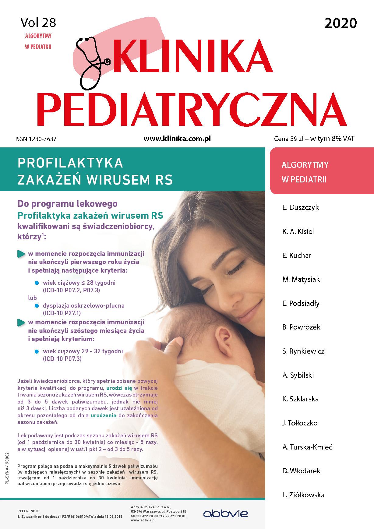 KP Algorytmy w pediatrii 2020