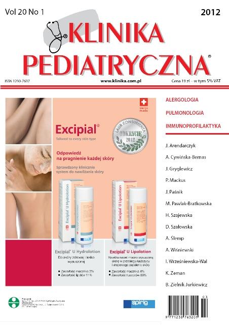KP 2012/01 - Alergologia, Pulmonologia, Immunoprofilaktyka