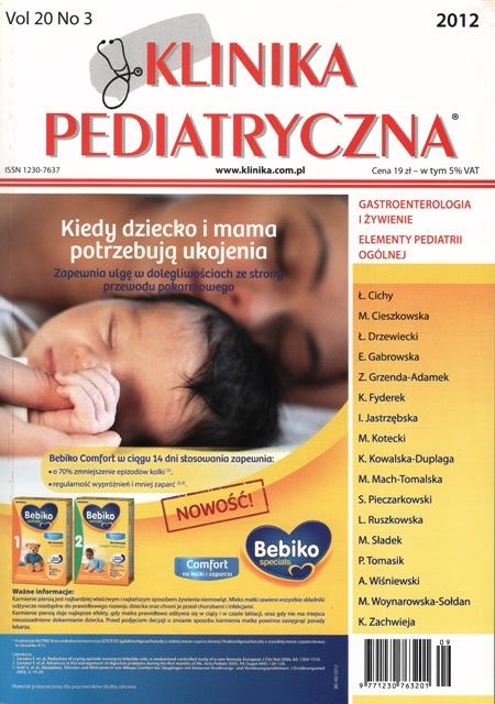 KP 2012/03 - Gastroenterologia i Żywienie, Elementy Pediatrii Ogólnej