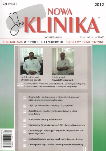 KN 2012/3 - Ginekologia, Problemy cywilizacyjne