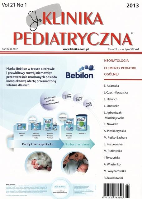 KP 2013/01 - Neonatologia, Elementy Pediatrii Ogólnej