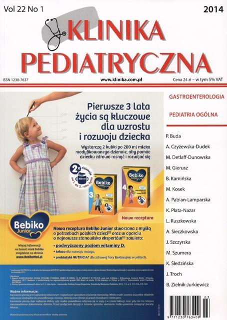 KP 2014/01 - Gastroenterologia, Pediatria ogólna